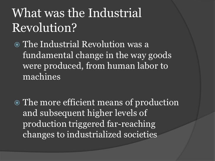 the similarities between the industrial and technological revolutions Differences in economic structure–hence, the thesis of o'brien and keyder (1978)   underlying the technological breakthroughs of the industrial revolution was.